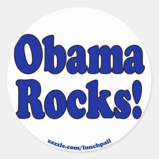 Obama Rocks Classic Round Sticker