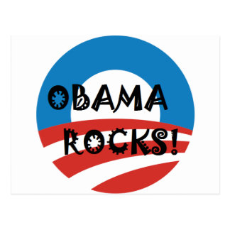 OBAMA ROCKS.png Postcard