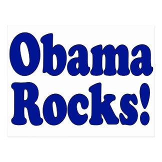Obama Rocks Postcard