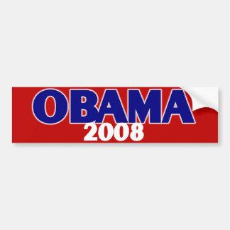 Obama rojo, blanco, azul 2008 etiqueta de parachoque