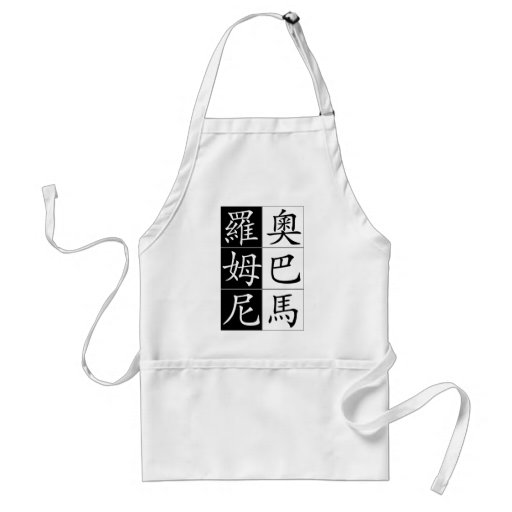 Obama Romny face off in Chinese Adult Apron