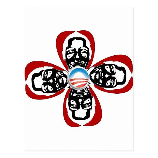 Obama Rose Postcard