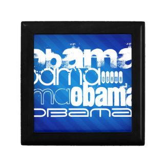 Obama; Royal Blue Stripes Gift Box