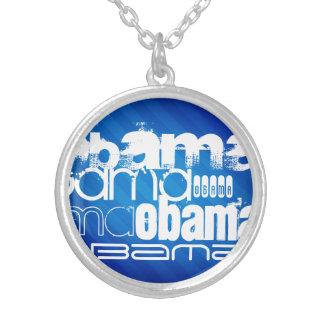 Obama; Royal Blue Stripes Necklaces