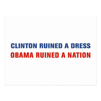 Obama Ruined A Nation Postcard