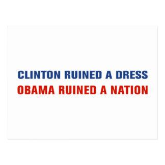 Obama Ruined A Nation Postcard