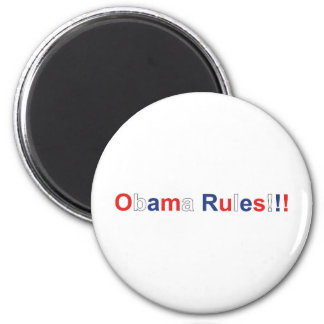 obama rules 2 inch round magnet