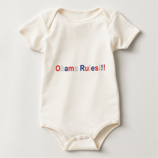 obama rules baby bodysuit