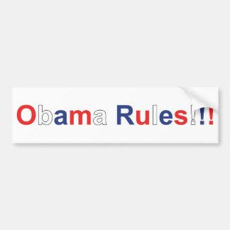 obama rules bumper sticker