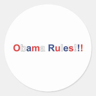 obama rules classic round sticker