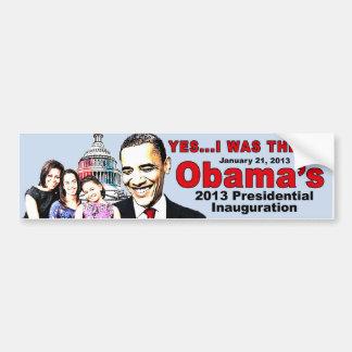 Obama's 2013 Inauguration bumper sticker
