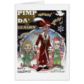 Obama Santa Greeting Card