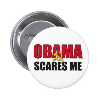 Obama Scares Me 2 Inch Round Button