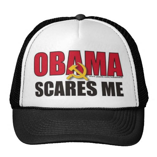 Obama scares me mesh hats
