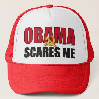 Obama scares me trucker hat