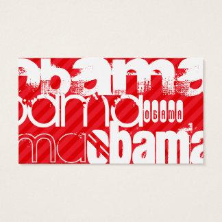 Obama; Scarlet Red Stripes Business Card