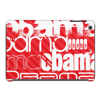 Obama; Scarlet Red Stripes iPad Mini Retina Case