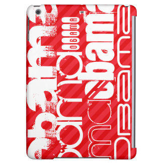 Obama; Scarlet Red Stripes Cover For iPad Air