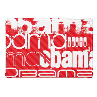 Obama; Scarlet Red Stripes Cover For The iPad Mini