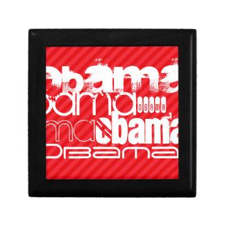 Obama; Scarlet Red Stripes Jewelry Box