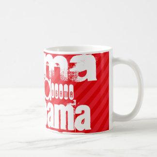 Obama; Scarlet Red Stripes Classic White Coffee Mug