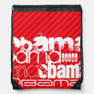 Obama; Scarlet Red Stripes Cinch Bags