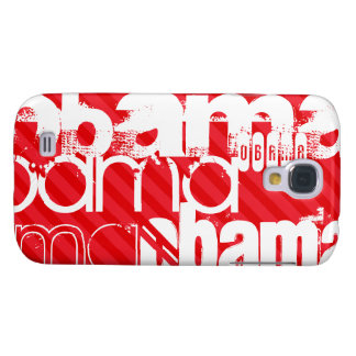 Obama; Scarlet Red Stripes Samsung S4 Case