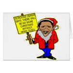 Obama Scrooge ningún navidad más impuestos Tarjeta De Felicitación