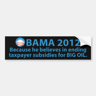 Obama se coloca fuerte contra las compañías petrol pegatina de parachoque
