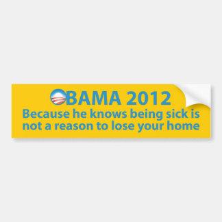 Obama se coloca fuerte para el matrimonio homosexu pegatina de parachoque