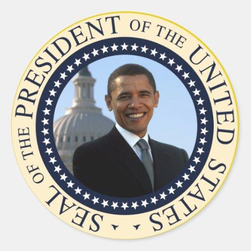Obama Seal Blue Classic Round Sticker