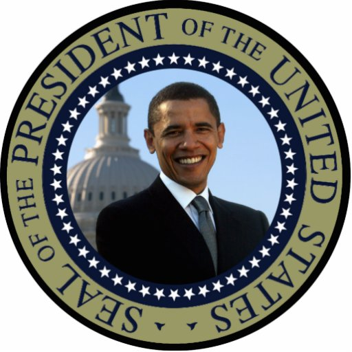 Obama Seal Blue Keychain Photo Cutouts