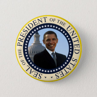 Obama Seal Blue Pinback Button