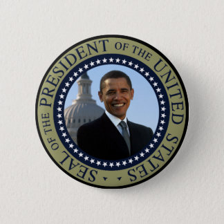 Obama Seal Gold Button