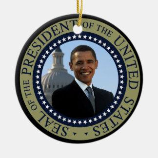Obama Seal Gold Presidential Seal Ceramic Ornament