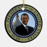 Obama Seal Gold Presidential Seal Christmas Tree Ornament