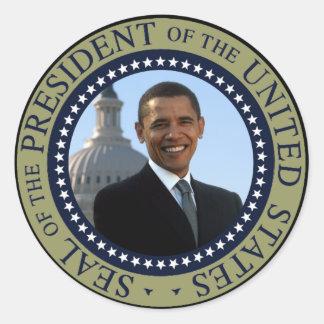 Obama Seal Gold Round Sticker