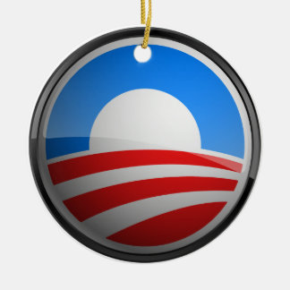 Obama Seal - Yes We Can Ceramic Ornament