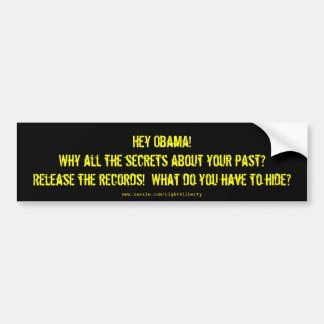 Obama Secrets Bumper Stickers