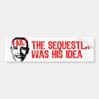 ¡Obama, secuestra fall! Pegatina De Parachoque