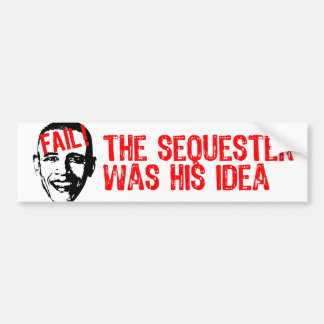 ¡Obama, secuestra fall! Pegatina Para Auto