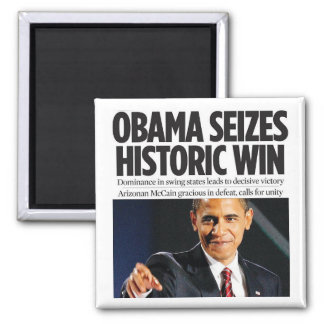 Obama Seizes Historic Win Magnet