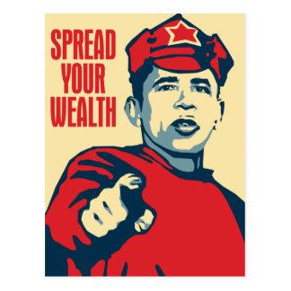 Obama - separe su riqueza alrededor: Postal de OHP