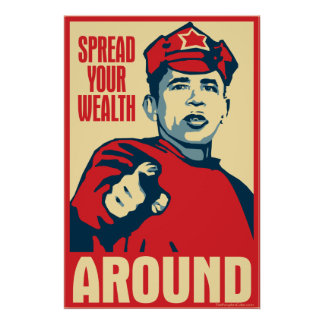 Obama - separe su riqueza alrededor: Poster de OHP