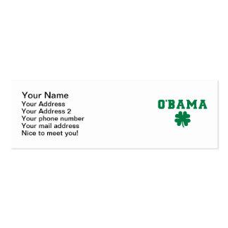 O'bama shamrock business card template