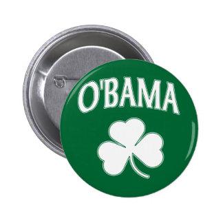 Obama Shamrock Pinback Button