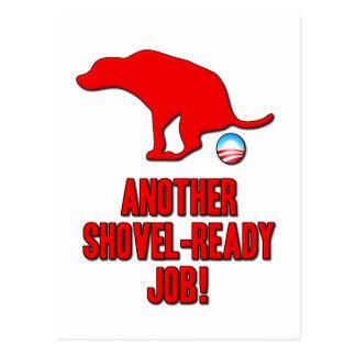 Obama Shovel Ready Job Postcard