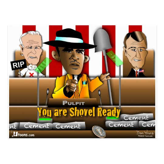 Obama Shovel Ready Postcard