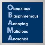Obama-Siglas Poster