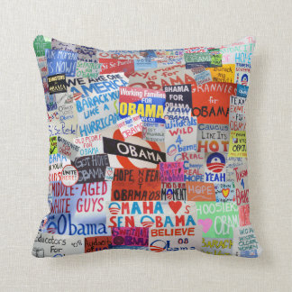 Obama Sign Collage Pillow